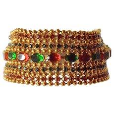 Rossi Bijoux,France costume bracelet, 1980s.