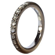 An 18k White Gold & Diamond Half Eternity Ring,1985c.
