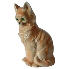 Vintage Wagner & Apel porcelain seated cat.
