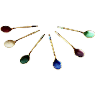 Michelsen, Anton, Denmark-vintage mocca spoons set.