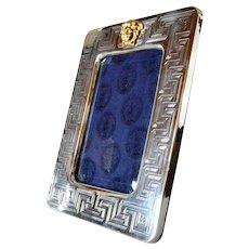 Versace,Gianni vintage silver Medusa picture frame.