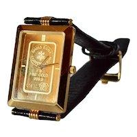 Zitura,Switzerland - A  Gold & Stainless Steel Quartz 'Banker's' Wristwatch, 1990c.