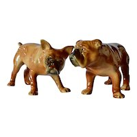Wagner & Apel, vintage pair of bull dogs.