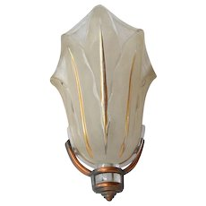 Art Deco, 1930s, wall sconce by Ezan of France.