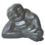 Shona serpentine stone sculpture by Dominic Moses, 2nd. half 20th century.