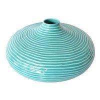 A vintage , Ceramicas S. Bernardo, hand made pottery green vase.