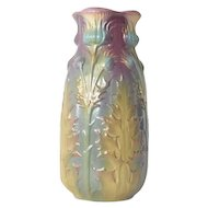 A Sarreguemines thistle vase, model no 3028, 1890 to 1910s.