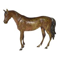 Viennese cold painted bronze horse.