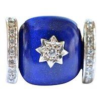 18k Gold and Lapis Lazuli Ring, 20th century.