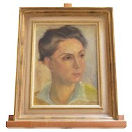 A Willy Quidort ( Swiss, 1898-1978 ) oil portrait of a lady.