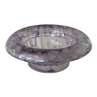A lilac cloud glass deep bowl, early 20th century.