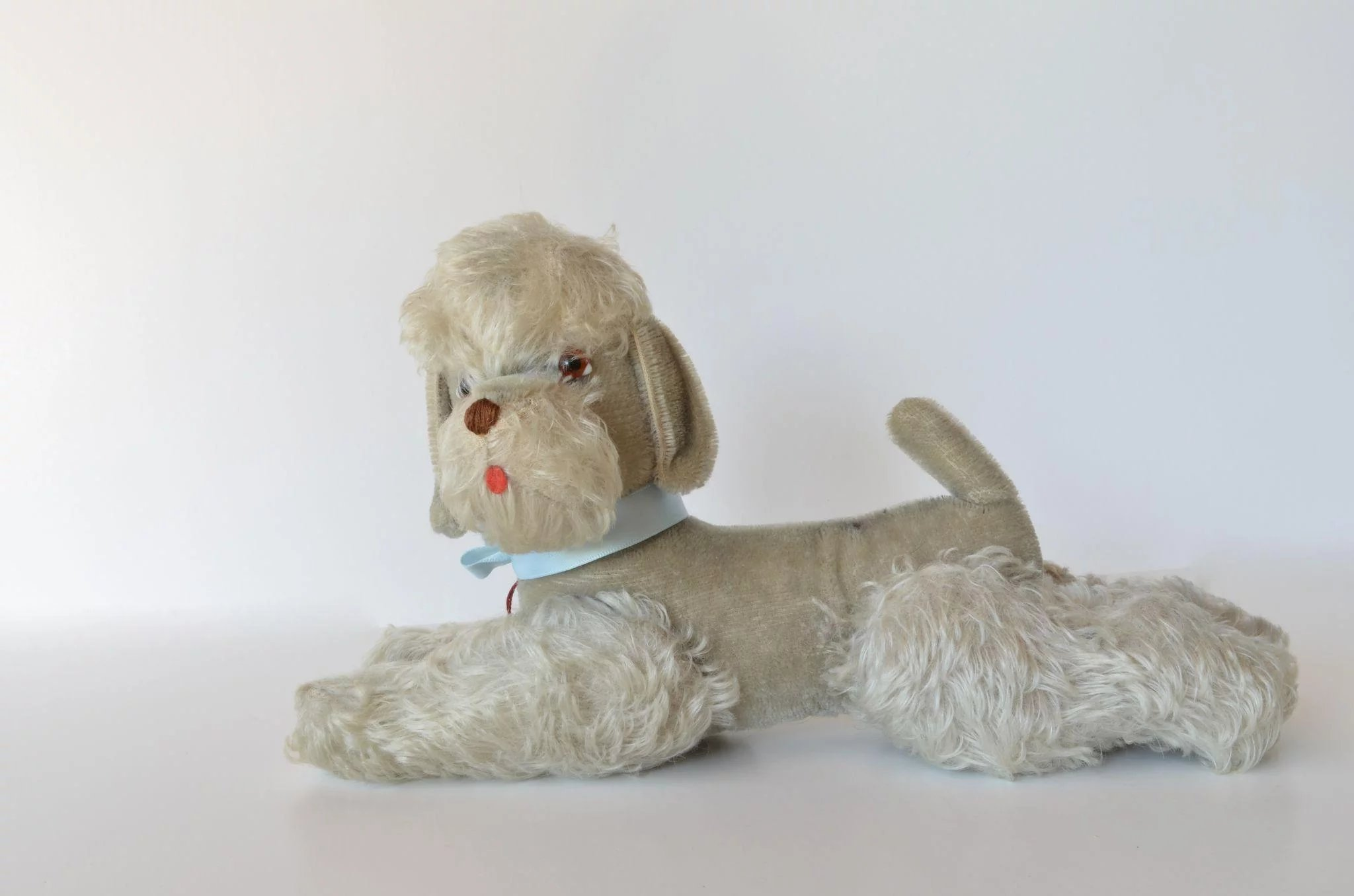 A Soft Stuffed Toy French Poodle Early Vintage Caragh Antiques