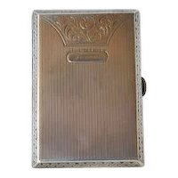 Silver 935 Card Case 1920s/1930s.