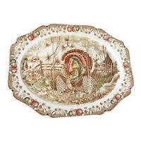 Turkey platter, ' His Majesty,' Johnson Bros., England, mid 20th century.