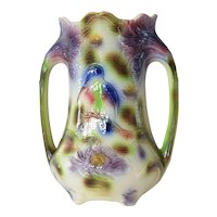 A French Majolica vase from St. Clements, mid 20th century.