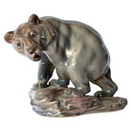 A Royal Copenhagen, Dahl Jensen, brown bear figurine, early vintage.