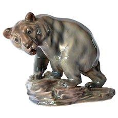 A Royal Copenhagen, Dahl Jensen, brown bear figurine, early vintage.