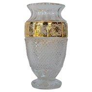 A vintage Czech, Tom Bohemia,  lead crystal vase .