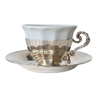 A silver (900 ) vintage Turkish demitasse.