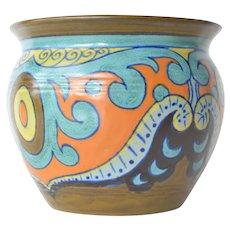 Gouda earthenware small vase, Holland, 1920s.