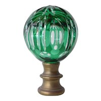 Glass finial for a newel post, late 19th century.