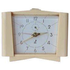 A JAZ ,French ,early vintage bakelite alarm clock.