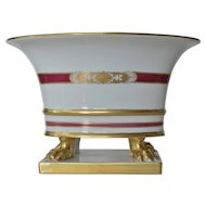 Herend early vintage porcelain urn on clawed feet, 1920-1930.