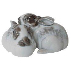 Pair of Selb-Bavaria Rosenthal rabbits, 1924.