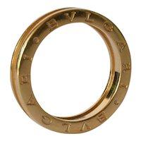 A Bvlgari yellow gold ( 18 ct. ) 'B.zero 1' ring  - one band.