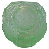 A Portieux/Vallerysthal Molded Glass Vase , 1930c.
