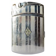 Early vintage Ronson 'Tuxedo' combination lighter, 1930.