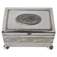 A Continental silver-plated dresser box, 1900c.