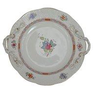 Herend Cake Dish & Six Plates, Hungary,  post 1948.