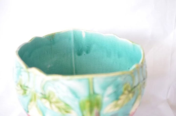 Jardiniere/Cache Pot, Orchies, Majolica, French, 1920. : Caragh ...