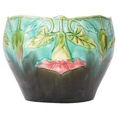 Jardiniere/Cache Pot, Orchies, Majolica, French, 1920.