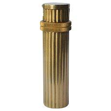 Hermes vintage (1950C. ) gold plated 'lipstick' cigarette lighter.