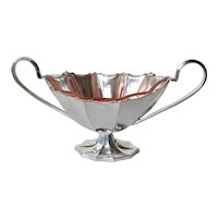 A WMF , Geislingen, silver plated metal oval glass lined dish, 1925-1935.