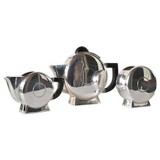Art Deco , silver plated, continental tea set, 1930c.