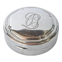 An art deco early vintage silver ( 830 ) Norwegian powder compact, 1930c.