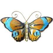 A vintage David Andersen, Norway , sterling silver butterfly brooch, 1950s.