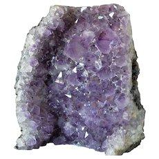 An amethyst quartz geode.