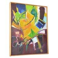 "Roberto Lauro ( 1932 - ), Swiss Artist, "" Bewegung des Lichtes"" ( Motion of Light)."