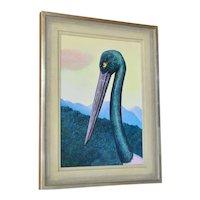 """Heinz Steinmann ( 1943-), Acrylic, """"Jaribou Portrait,"""" 1986."""
