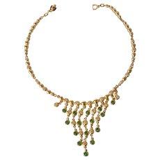 A vintage Christian Dior bib necklace, 1970s.
