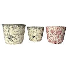 A trio of Villeroy & Boch, Mettlach, Kupferstiche pot holders- early vintage.