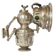 Bicycle/motorcycle carbide lamp, German, early 1900s.