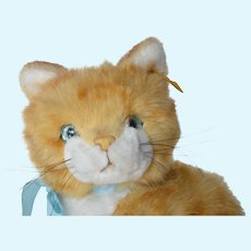 A vintage Steiff, made in Austria, Tapsy , ginger kitten.