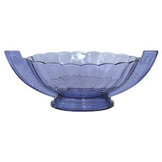 "Val St. Lambert, art deco,1935,  ""Romeo"" fruit bowl."