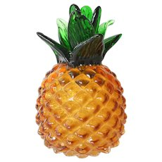 A vintage Murano glass pineapple.