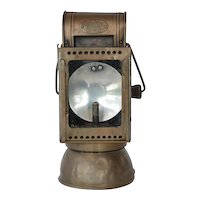 Carbide lamp, railway,  Friemann & Wolf, early 1900s.